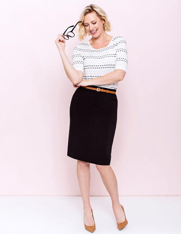 Black Pencil Skirt Look, , hi-res