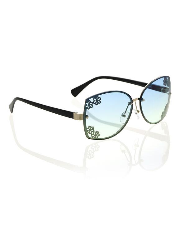 Aqua Gradient Sunglasses, Blue, hi-res