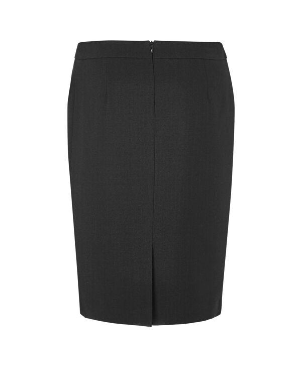 Black Suiting Pencil Skirt, Black, hi-res