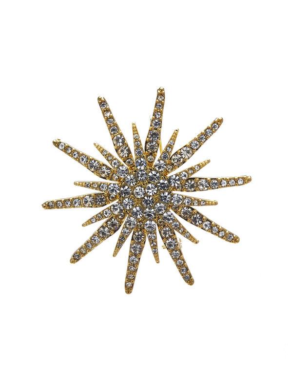 Gold Starburst Pin, Gold, hi-res