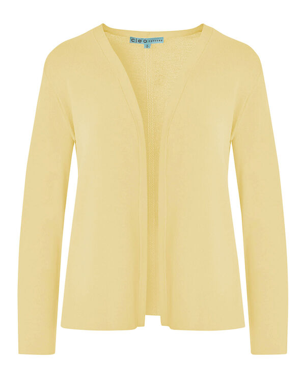 Butter Crepe Cardigan, Butter, hi-res