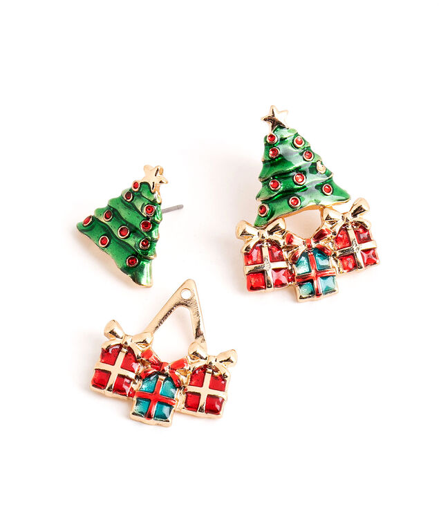 Christmas Tree Stud Earring, Green