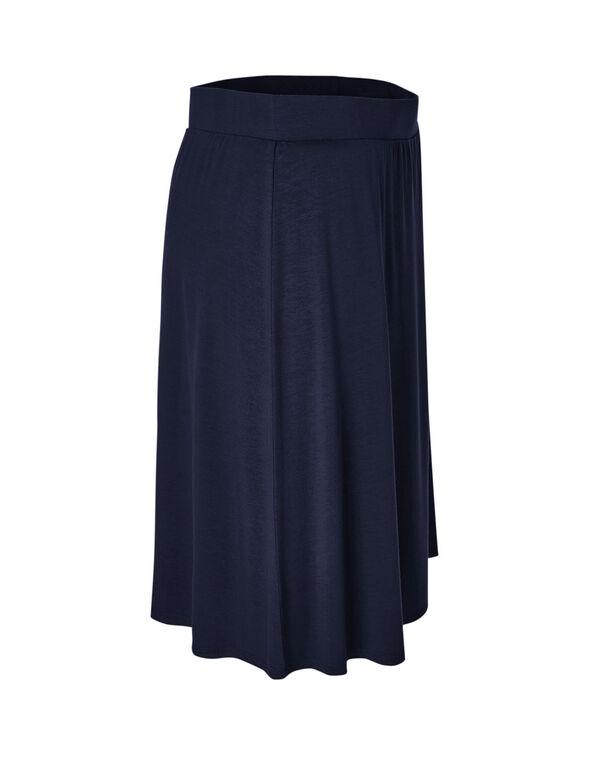 Navy Pull On Skirt, Navy, hi-res