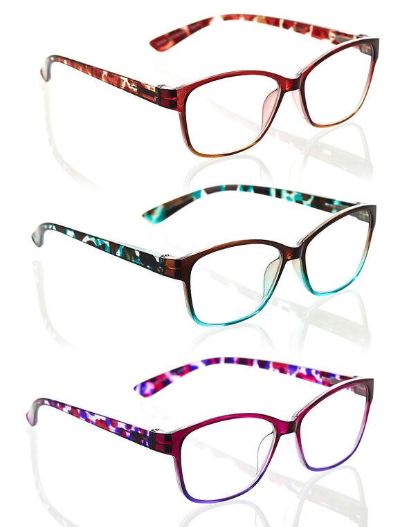 Multicolour Geo Frame 3-Pack Readers, Multi, hi-res