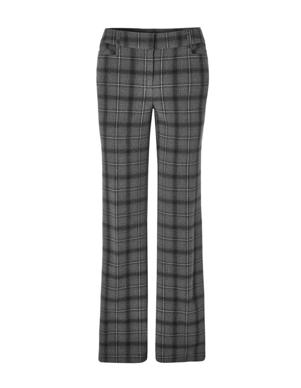 Plaid Every Body Trouser, Grey/Black/White, hi-res