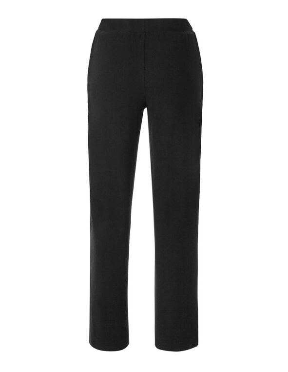 Black Cozy Wide Leg Pant, Black, hi-res