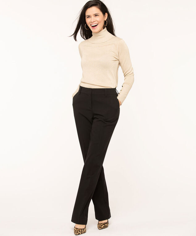 Black Trouser Pant - Long , Black