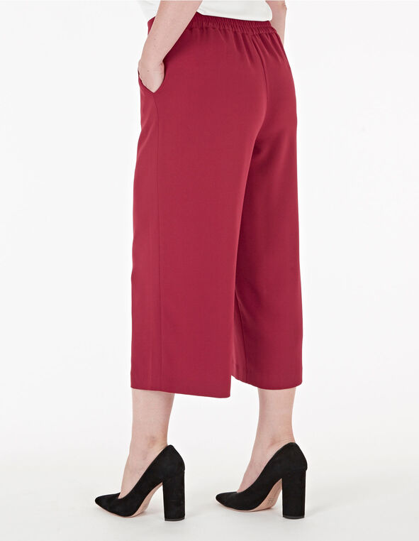 Red Wide Leg Crop Pant, Red, hi-res