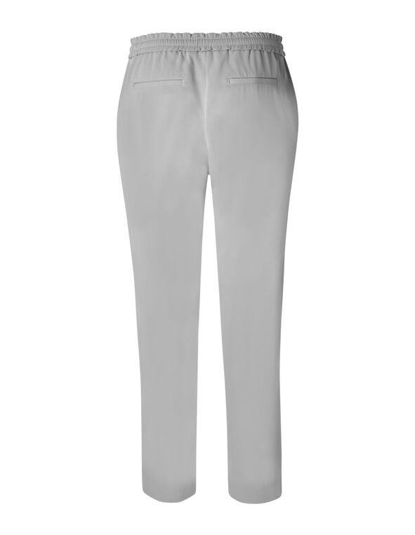 Light Grey Soft Jogger Ankle Pant, Grey, hi-res