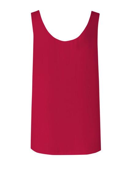 Hot Pink Reversible Neck Blouse, Md Pink, hi-res