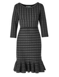 Black Patterned Sweater Dress