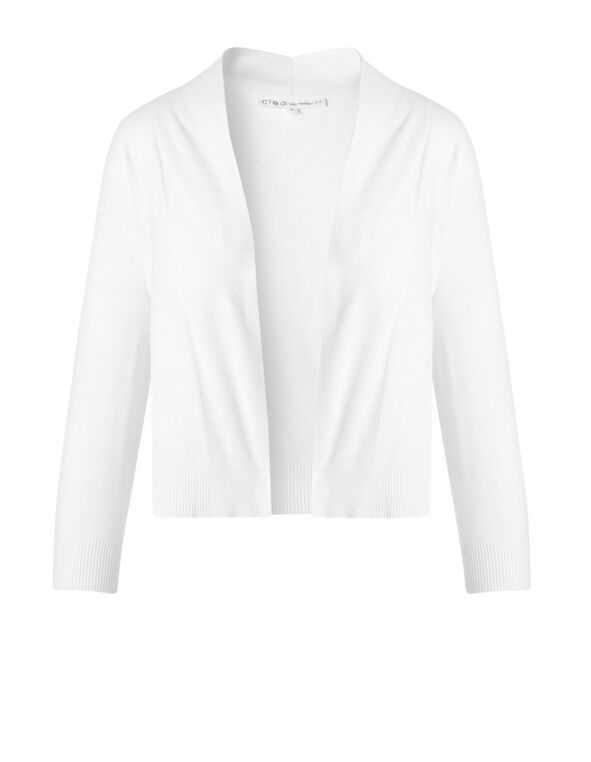 White Shrug Cardigan, White, hi-res