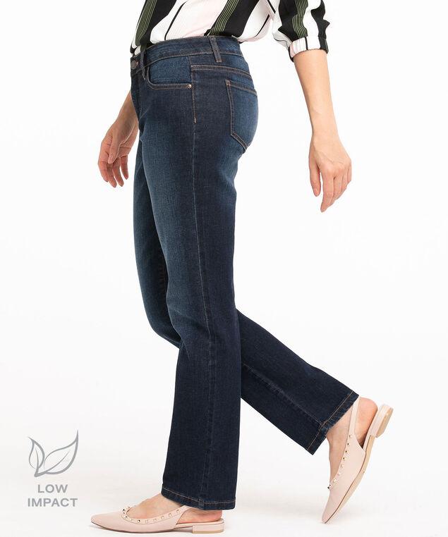 Low Impact Straight Leg Jean, Dark Wash