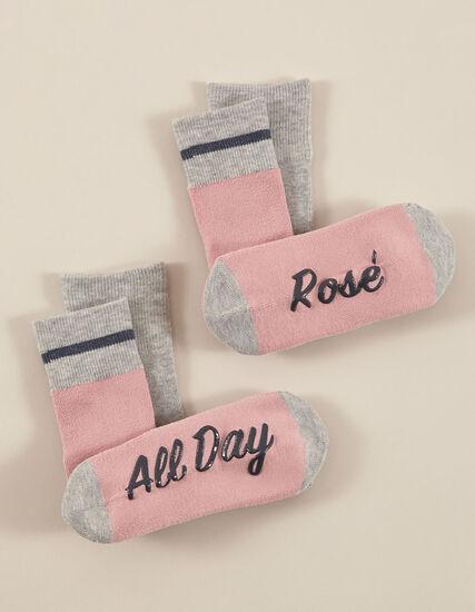 Pink & Grey Sock Pack, Pink/Grey, hi-res