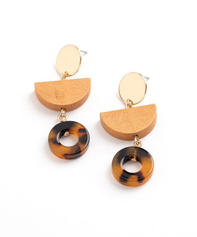 Tortoise & Gold Drop Earring, Gold