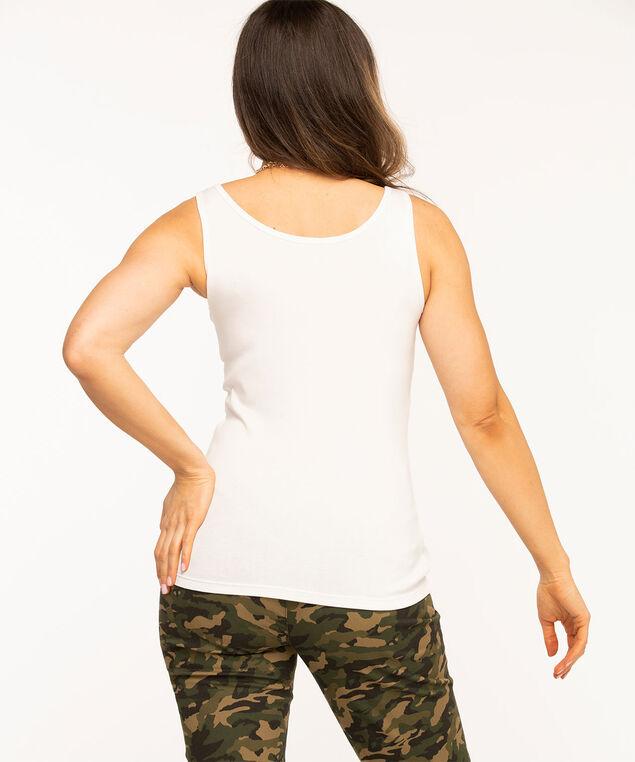 Scoop Neck Layering Tank, White