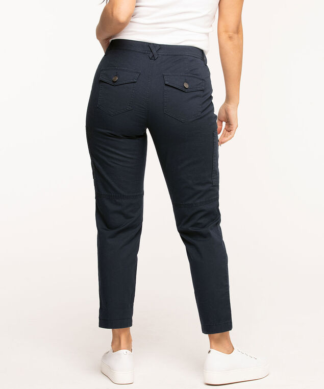 Chino Cargo Ankle Pant, Navy