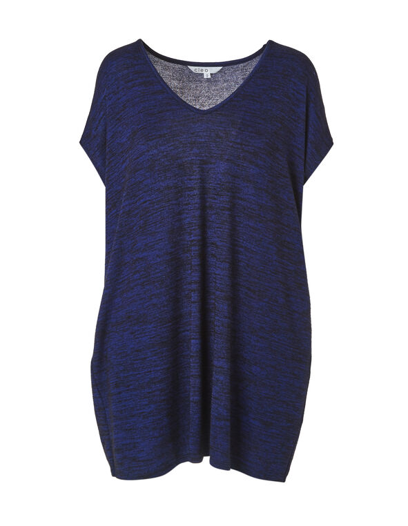 Electric Blue Hacchi Tunic Top, Electric Blue, hi-res