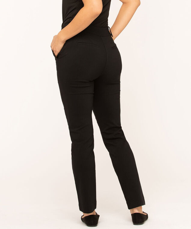 Black Butt Lift Slim Pant, Black