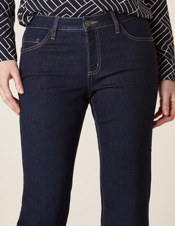 Dark Wash Curvy Slim Leg Jean, Dark Wash, hi-res