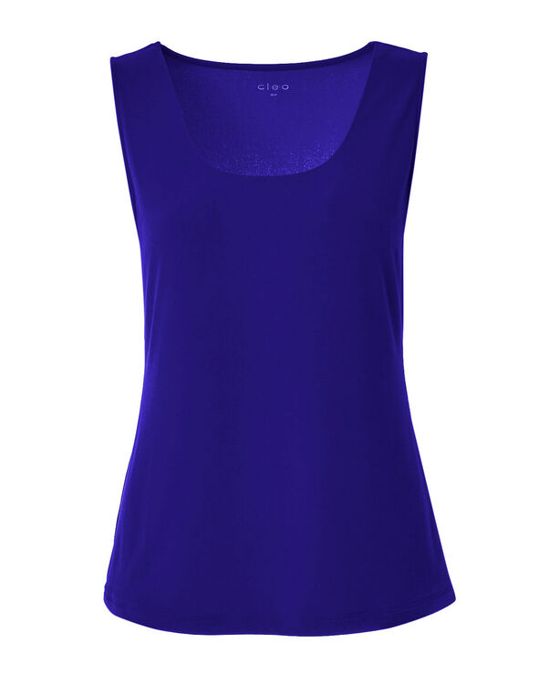 Sapphire Essential Layering Tank, Blue, hi-res