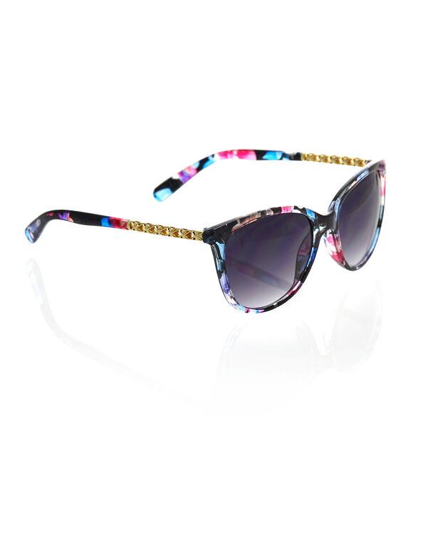 Multi Coloured Wayfarer Sunglasses, Pink/Blue, hi-res
