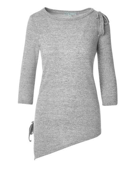 Light Grey Asymmetrical Top, Light Grey, hi-res