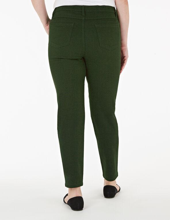 Loden Green Zip Ankle Jean, Dark Green, hi-res