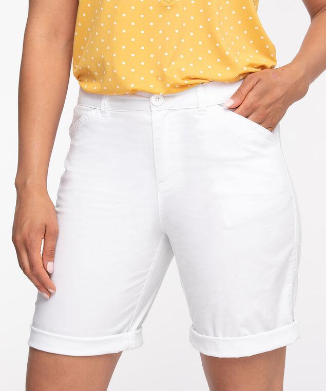 White Poplin Slim Short, White
