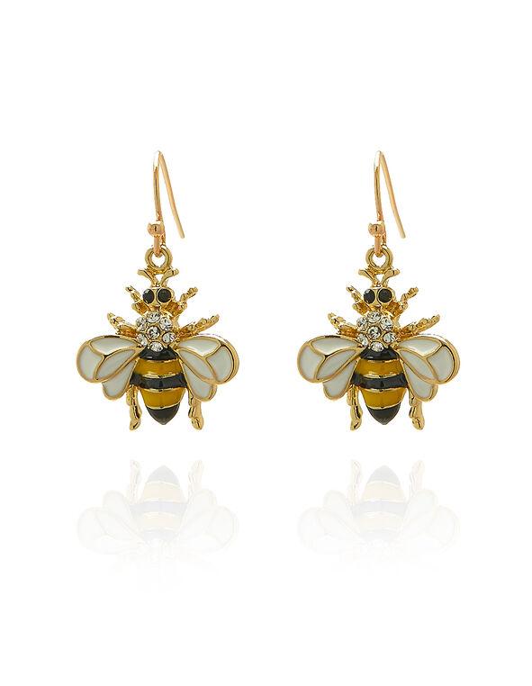 Bee Earring, Yellow, hi-res