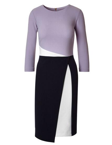 Lavender Colour Block Sheath Dress, Lavender, hi-res