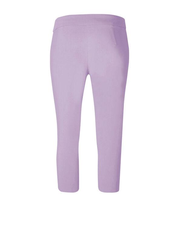 Lilac Capri Pull On Pant, Lilac, hi-res