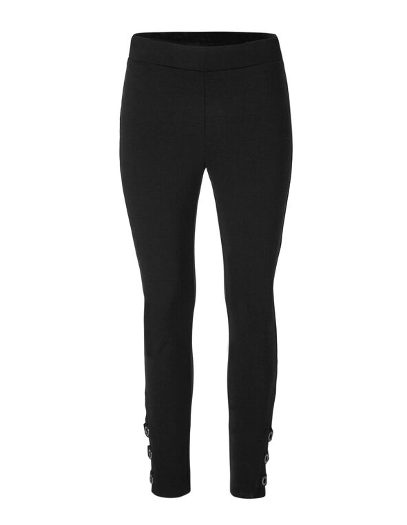 Black Grommet Detail Legging, Black, hi-res
