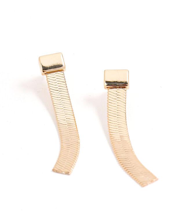 Gold Snake Chain Earring, Gold