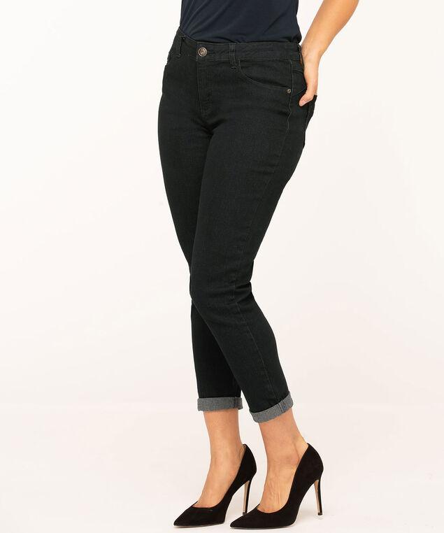 Dark Wash Butt Lift Slim Jean, Navy, hi-res