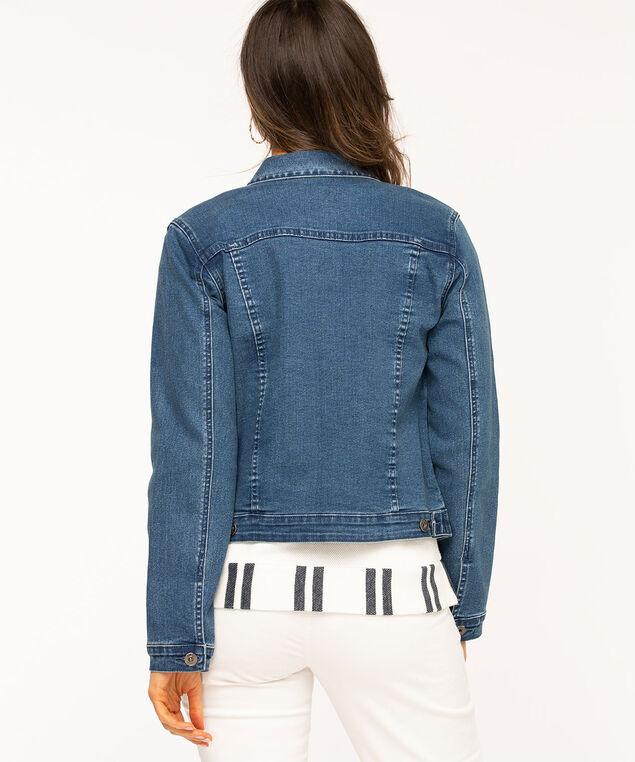 Mid Wash Denim Jacket, Mid Wash Blue