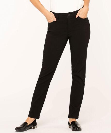 Black Curvy 5-Pocket Slim Pant, Black, hi-res