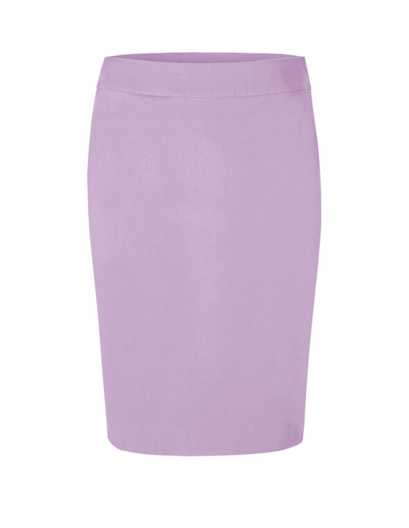 Lavender Pull On Pencil Skirt, Lavender, hi-res