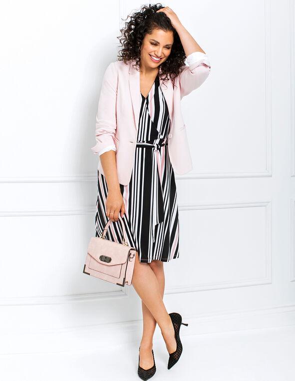 Rose Striped Dress Look, , hi-res