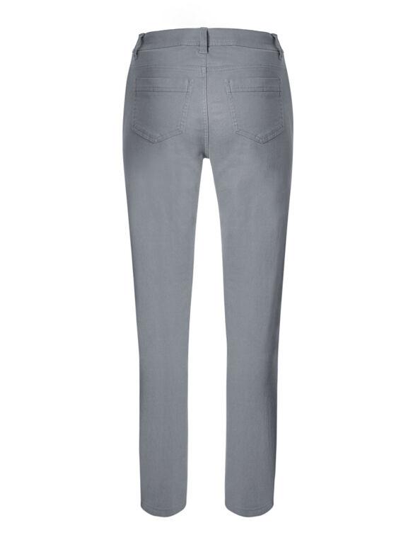 Grey Cotton Slim Leg Jean, Grey, hi-res