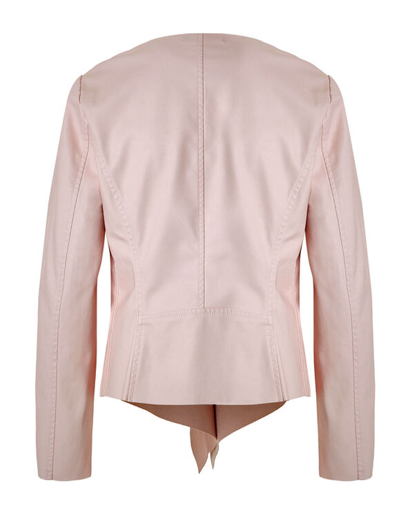 Pink Open Front Jacket, Misty Rose, hi-res