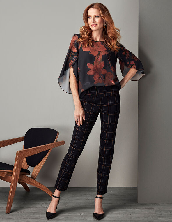 Windowpane cleo Signature Pant®, Black, hi-res