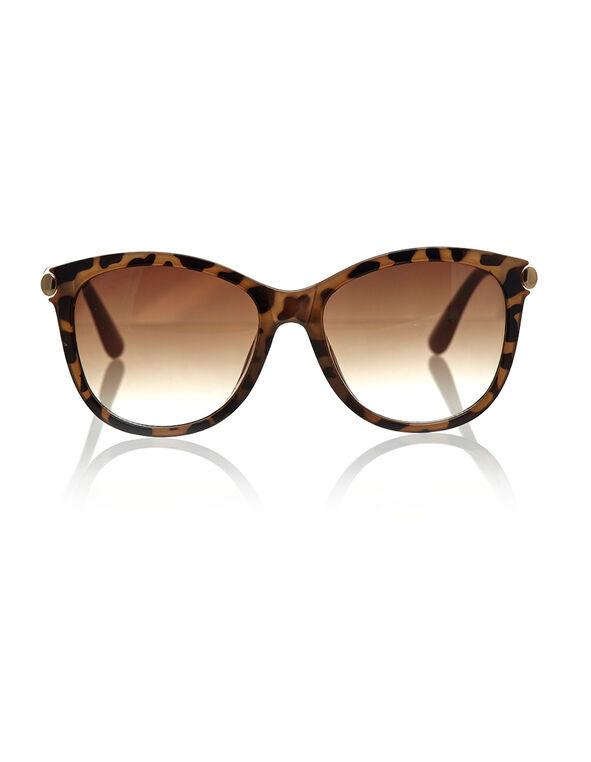 Tortoise Wayfarer Frame Sunglasses, Neutral, hi-res