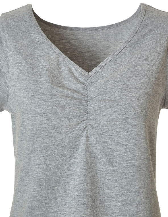 Grey Cotton Tee, Lt Grey, hi-res