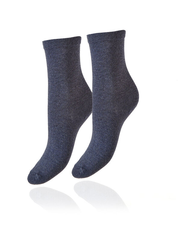 Blue Crew Sock, Blue, hi-res