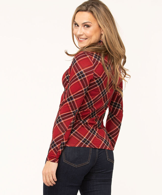 Layering Essential Turtleneck, Red Plaid, hi-res