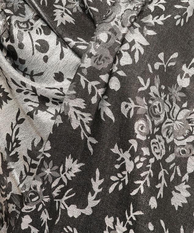 Floral Boutique Lurex Scarf, Grey/Black Mix