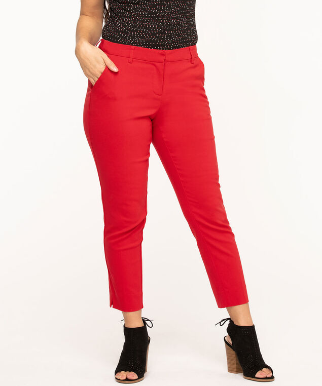 Butt Lift Slim Ankle Pant, Red