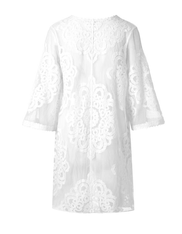 White Lace Topper, White, hi-res
