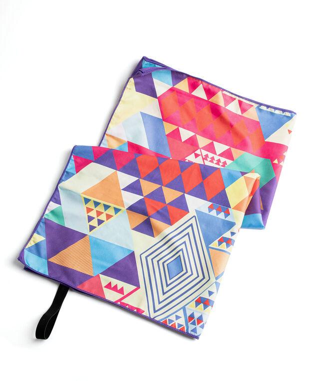 Microfibre Quick Dry Towel, Multi Geometric Triangle